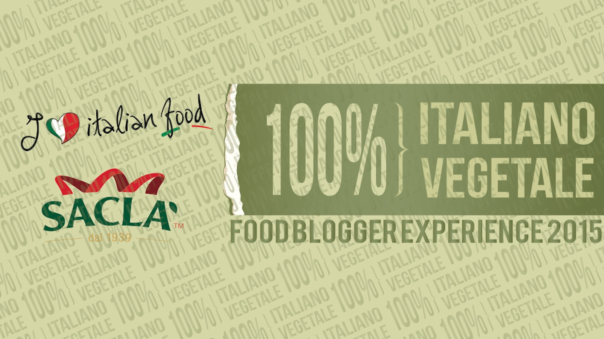 I Love Italian Food & Saclà: 100% italiano, 100% vegetale!