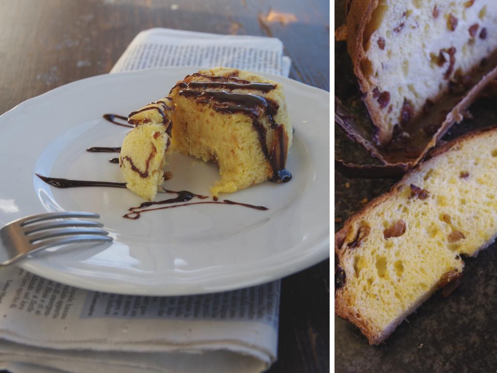 Tortini di Panettone con crema Zabaione