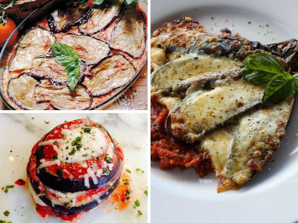 Mixed Eggplants and Zucchinis Parmigiana