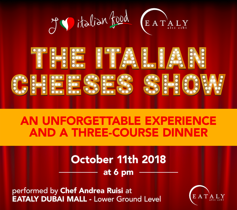 100per100 Italian Show – First stop Dubai with The Italian Cheeses Show