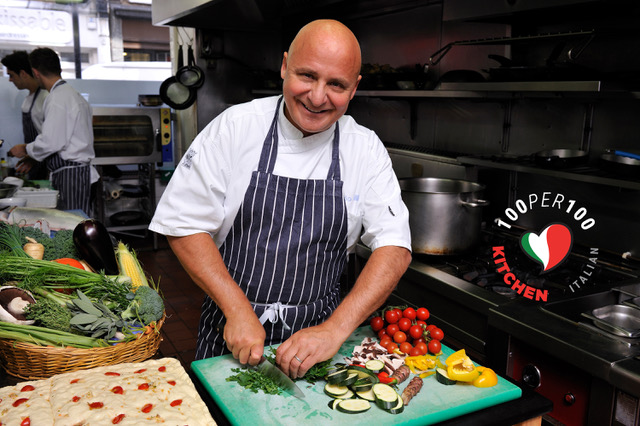 100per100 Italian Kitchen in London with Aldo Zilli