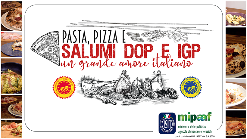 Un grande amore italiano: Pasta, Pizza e salumi DOP e IGP