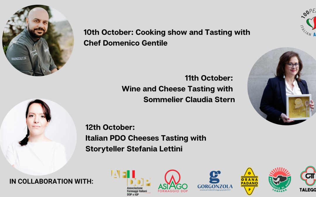 Italian PDO cheeses at Anuga with the 100per100 Italian Academy